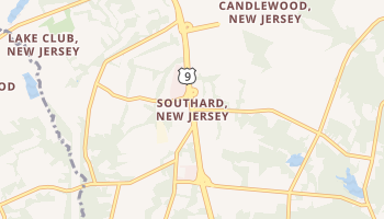 Southard, New Jersey map