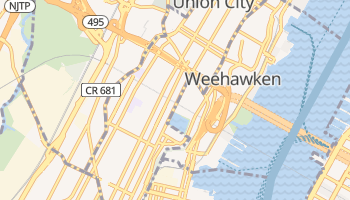 Union City, New Jersey map