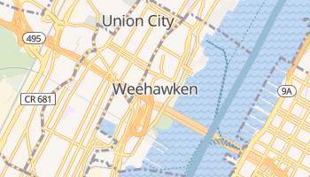 Weehawken, New Jersey map
