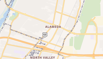 Alameda, New Mexico map