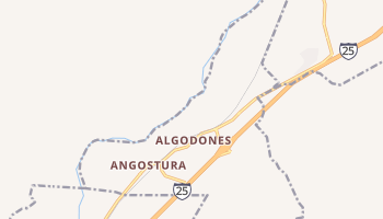 Algodones, New Mexico map