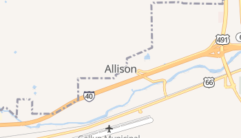 Allison, New Mexico map