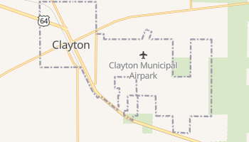 Clayton, New Mexico map