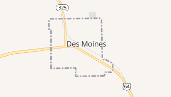 Des Moines, New Mexico map