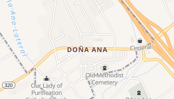Dona Ana, New Mexico map