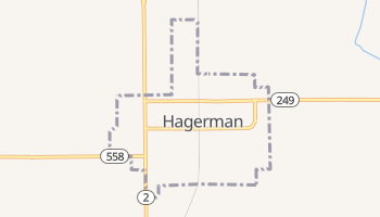 Hagerman, New Mexico map