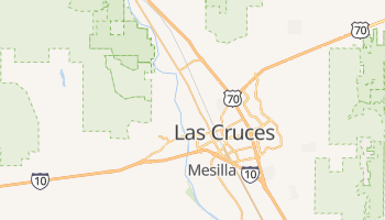 Las Cruces, New Mexico map