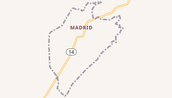 Madrid, New Mexico map