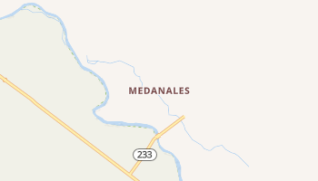 Medanales, New Mexico map