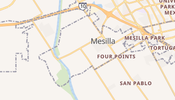 Mesilla, New Mexico map