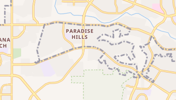 Paradise Hills, New Mexico map
