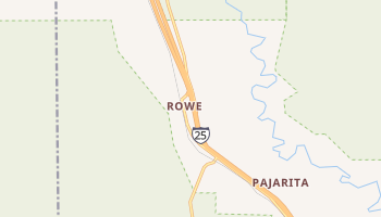 Rowe, New Mexico map
