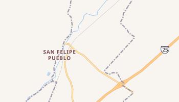San Felipe Pueblo, New Mexico map