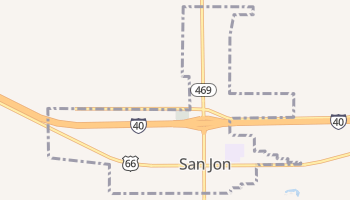 San Jon, New Mexico map