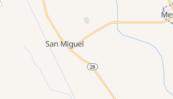 San Miguel, New Mexico map
