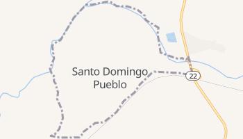 Santo Domingo Pueblo, New Mexico map