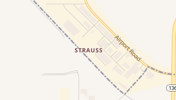 Strauss, New Mexico map
