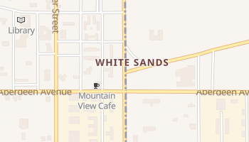 White Sands, New Mexico map