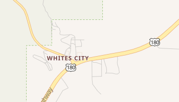 Whites City, New Mexico map