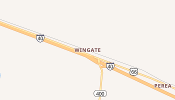 Wingate, New Mexico map