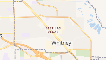 East Las Vegas, Nevada map