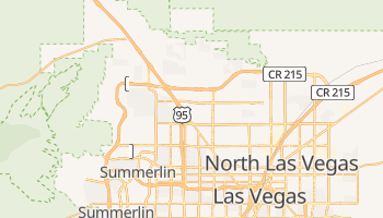 Las Vegas, Nevada map