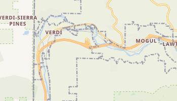 Verdi, Nevada map