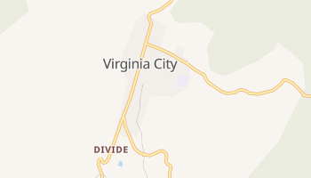 Virginia City, Nevada map