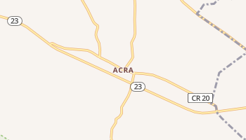 Acra, New York map