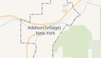 Addison, New York map