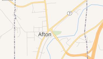 Afton, New York map
