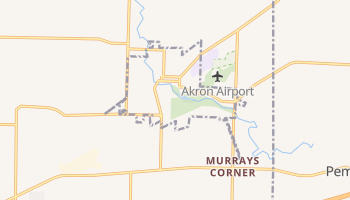 Akron, New York map