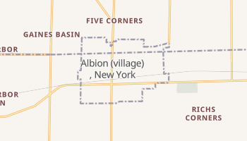 Albion, New York map