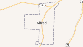 Alfred, New York map