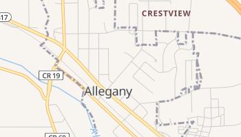 Allegany, New York map