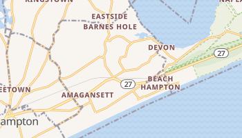 Amagansett, New York map