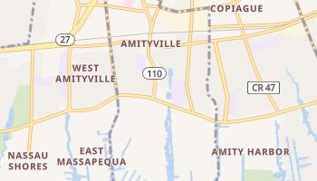 Amityville, New York map