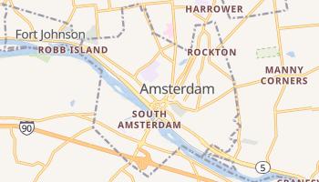 Amsterdam, New York map