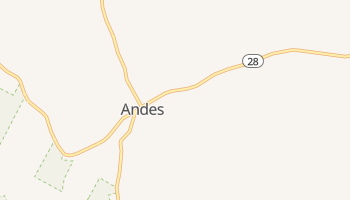 Andes, New York map