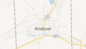 Andover, New York map