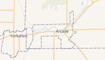 Arcade, New York map