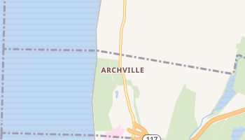 Archville, New York map