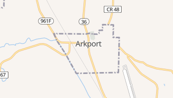 Arkport, New York map