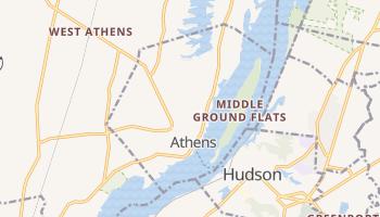 Athens, New York map