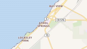 Athol Springs, New York map