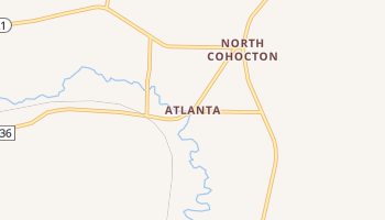 Atlanta, New York map