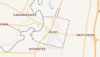 Avon, New York map