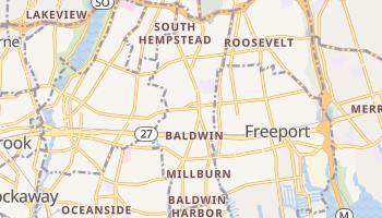 Baldwin, New York map