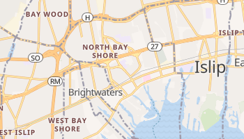 Bay Shore, New York map