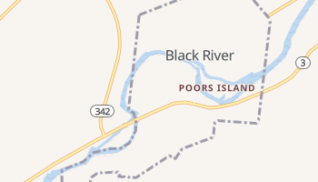 Black River, New York map